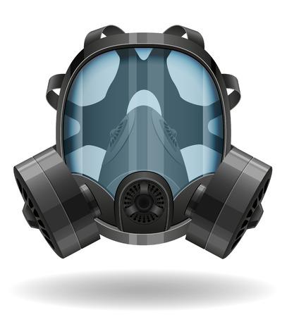 gas mask vector illustration isolated on white background