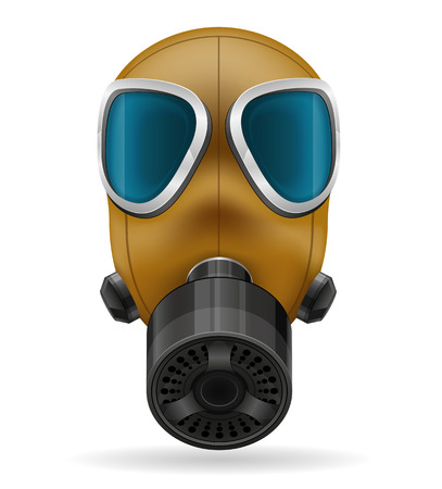 nuclear fear: gas mask vector illustration isolated on white background