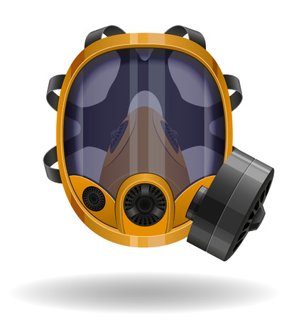 bio hazardous: gas mask vector illustration isolated on white background