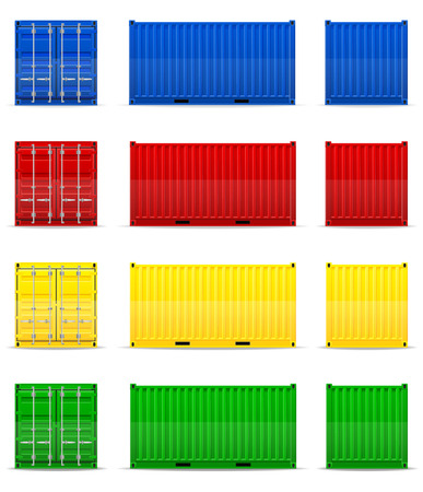 storage container: cargo container vector illustration isolated on white background