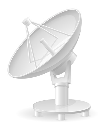 satellite in space: satellite dish vector illustration isolated on white background Stock Photo