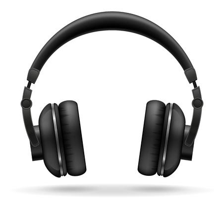 音響ヘッドフォン ベクトル イラスト白背景に分離 写真素材