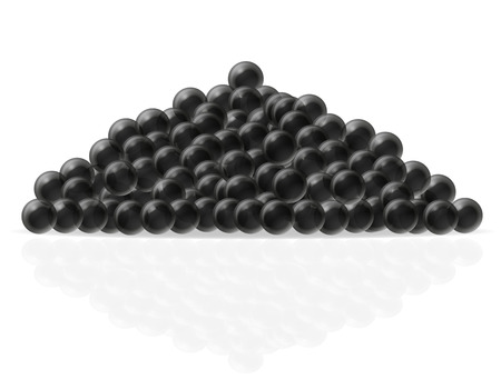 spawn: black caviar vector illustration isolated on white background