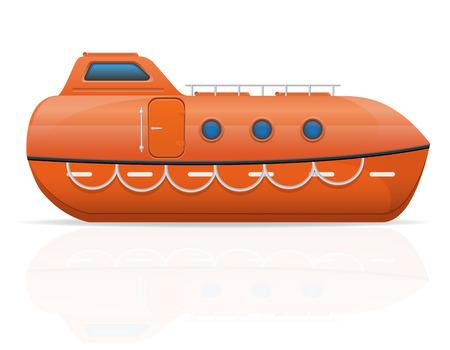 lifeboat: nautical lifeboat vector illustration isolated on white background