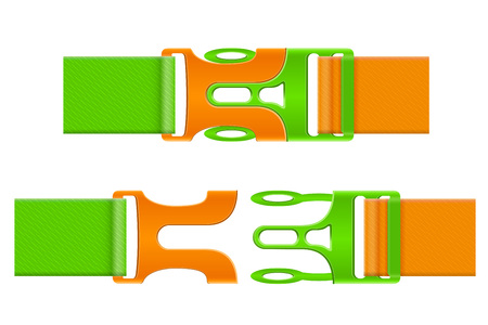 clasp: plastic buckle clasp vector illustration isolated on white background