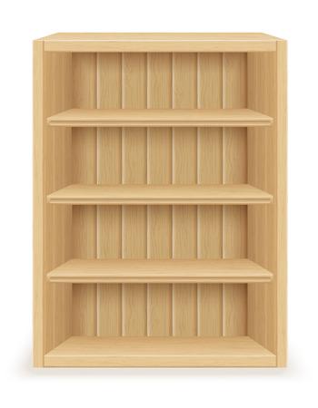 bibliophile: bookshelf furniture made of wood vector illustration isolated on white background