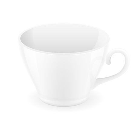 porcelain: porcelain cup vector illustration isolated on white background Stock Photo
