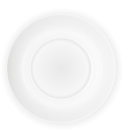 porcelain plate: porcelain plate top view vector illustration isolated on white background