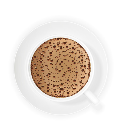 crema: cup of coffee crema vector illustration isolated on white background Stock Photo