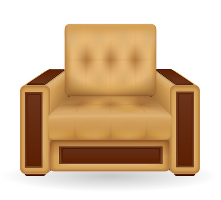 wooden stool: armchair furniture vector illustration isolated on white background Stock Photo