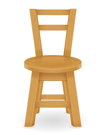 wooden stool: wooden stool furniture vector illustration isolated on white background Stock Photo