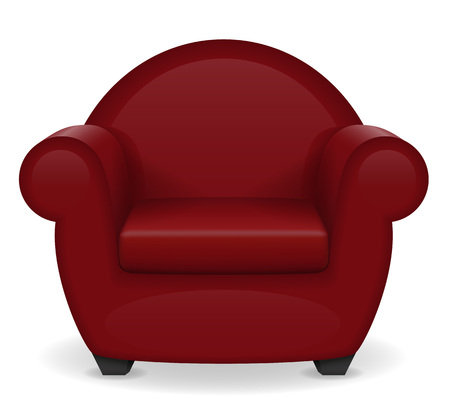 red armchair furniture vector illustration isolated on white background Stock Photo