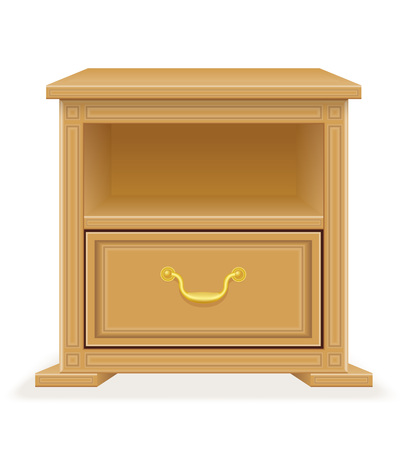 checkroom: nightstand furniture vector illustration isolated on white background