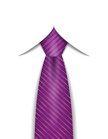 neck tie: tie for men a suit vector illustration isolated on white background