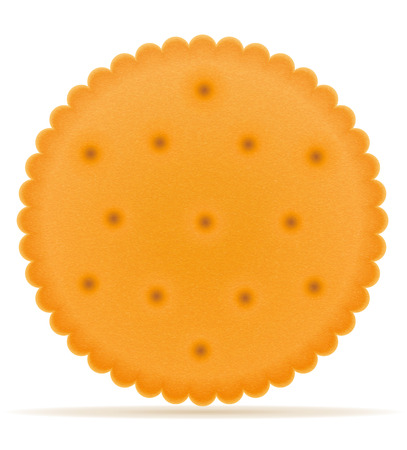 crispy: crispy biscuit cookie vector illustration isolated on gray background