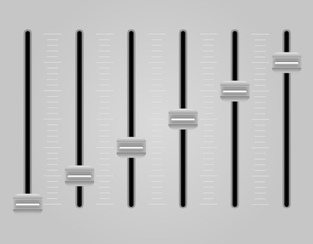 modification: panel console sound mixer vector illustration on gray background