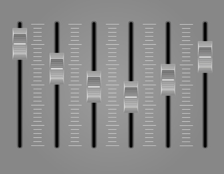 panel console sound mixer vector illustration on gray background