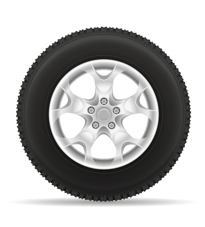 alloy: car wheel tire from the disk vector illustration isolated on white background
