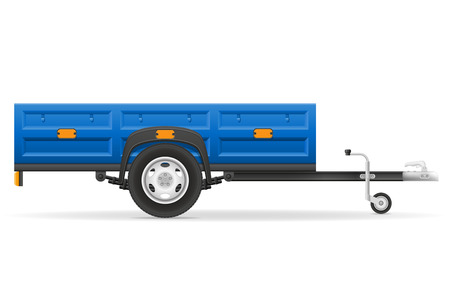 car trailer for the transportation of goods vector illustration isolated on white background