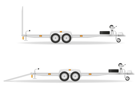 lading: car trailer for transportation vehicles vector illustration isolated on white background