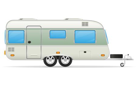 mobil: trailer caravan mobil home vector illustration isolated on white background Stock Photo