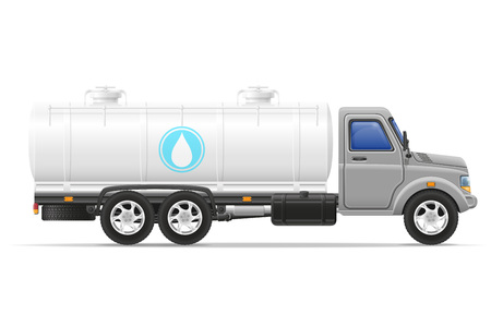 transporting: cargo truck with tank for transporting liquids isolated on white background Stock Photo