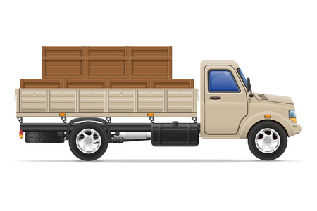 white goods: cargo truck delivery and transportation goods concept vector illustration isolated on white background
