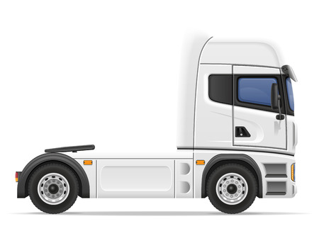 semi trailer: truck semi trailer vector illustration isolated on white background