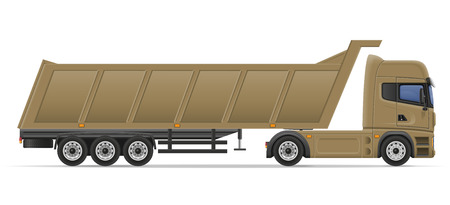 semi trailer: truck semi trailer for transportation of goods vector illustration isolated on white background