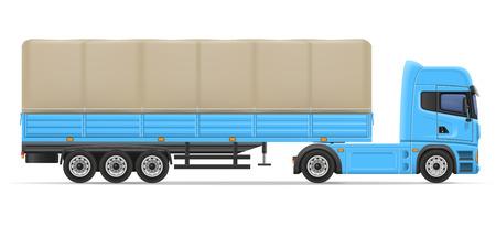 semi trailer: truck semi trailer vector illustration isolated on white background