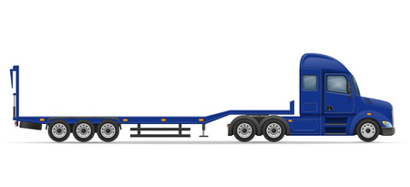 tanks: truck semi trailer for transportation of car vector illustration isolated on white background