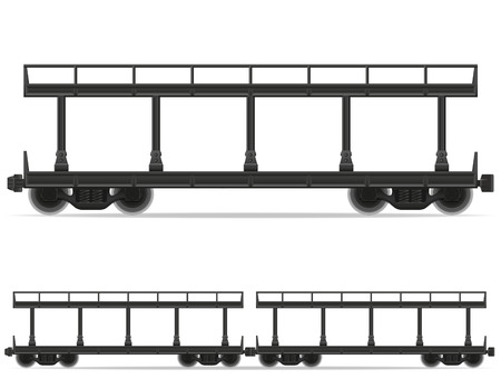 intercity: railway carriage train vector illustration isolated on white background Stock Photo