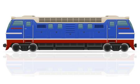 the locomotive isolated: railway locomotive train vector illustration isolated on white background