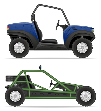 atv car buggy off roads vector illustration isolated on white background Stock fotó