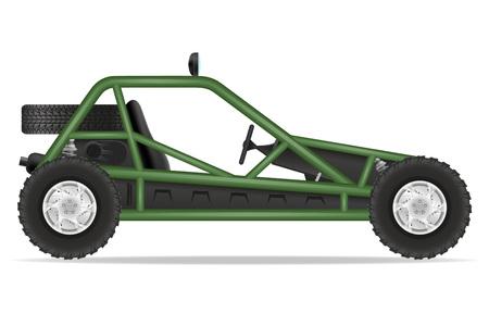 quagmire: atv car buggy off roads vector illustration isolated on white background Stock Photo