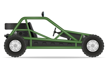 atv car buggy off roads vector illustration isolated on white background Stock Photo
