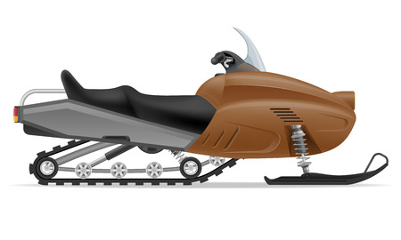 snowmobile for snow ride vector illustration isolated on white background