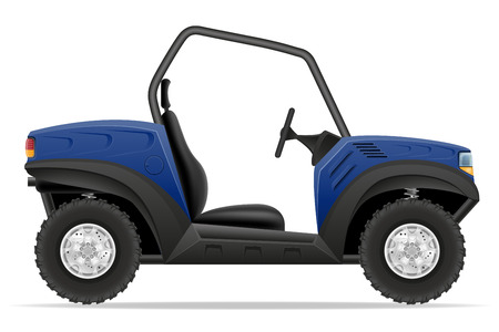 atv: atv car buggy off roads vector illustration isolated on white background Stock Photo