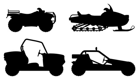 set icons atv automobile off roads vector illustration isolated on white background Stock fotó