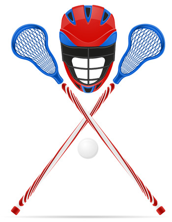 lacrosse equipment illustration isolated on white background Reklamní fotografie - 55801303