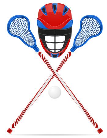 lacrosse equipment illustration isolated on white background Stock Photo