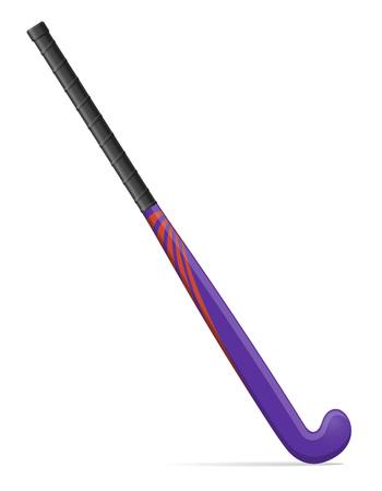 hockey stok illustratie op een witte achtergrond Stockfoto