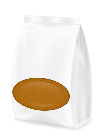 shortbread: biscuit in packaging vector illustration isolated on white background Stock Photo