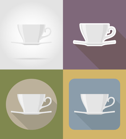 cup and saucer: cup saucer objects and equipment for the food vector illustration isolated on background Stock Photo