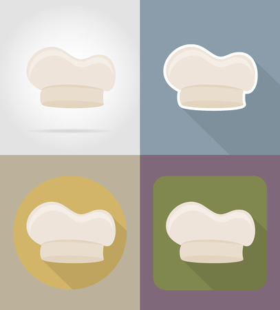 cook cap: cook cap objects and equipment for the food vector illustration isolated on background