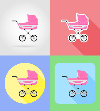 kiddy: baby toys and accessories flat icons vector illustration isolated on background