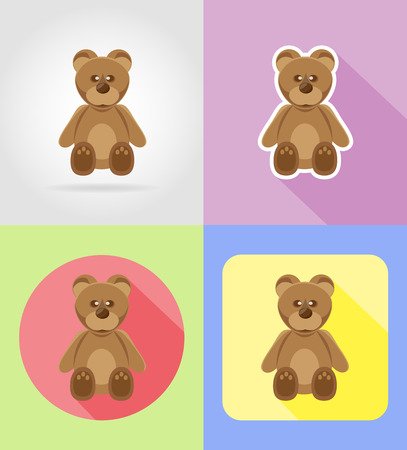 infancy: baby toys and accessories flat icons vector illustration isolated on background