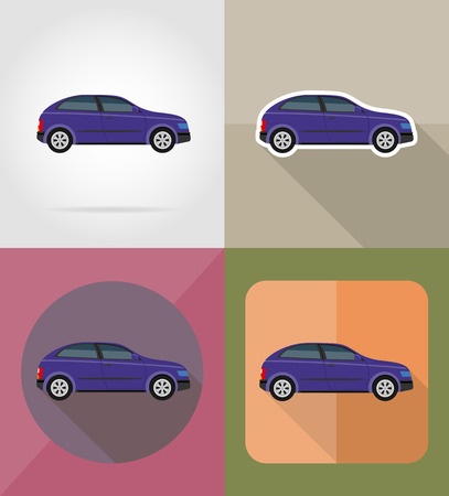 car transport flat icons vector illustration isolated on background