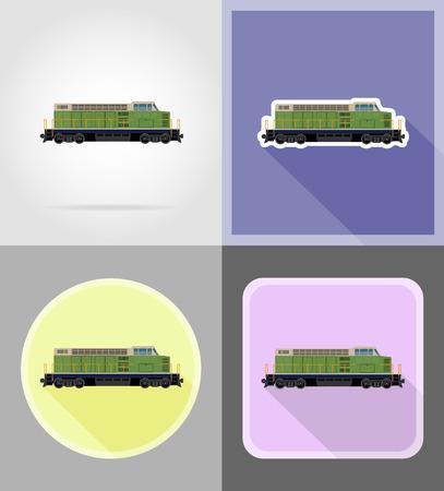 the locomotive isolated: railway locomotive train flat icons vector illustration isolated on background