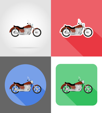 clutch: motorcycle flat icons vector illustration isolated on background Stock Photo
